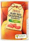 Rode Grapefruit in blik op sap_