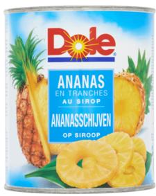 Dole Ananas op siroop in blik