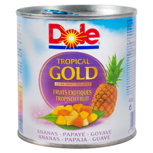 Dole Fruitcocktail 432gr tropical op sap